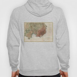 Vintage Map of San Francisco California (1858) Hoody