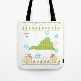 Virginia Christmas Ugly Shirt Tote Bag