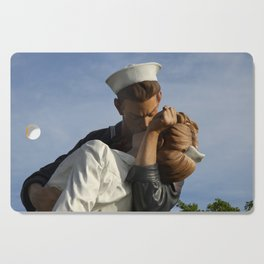 Kissing Sailor And Nurse Portrait Cutting Board