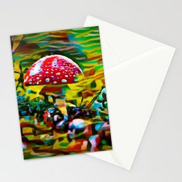 Toadstool Fiesta | painting Stationery Cards