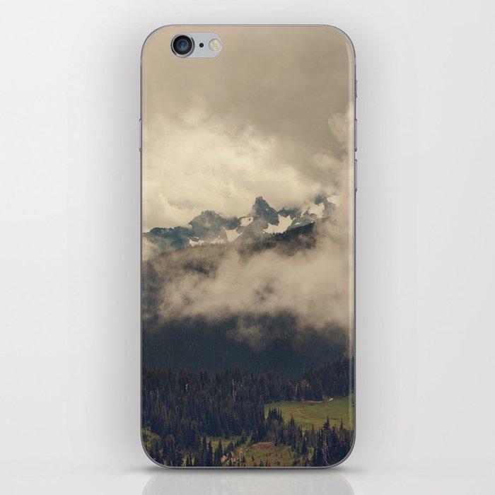 Mountains through the Fog iPhone Skin