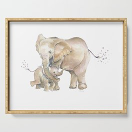 Mother's Love - Elephant Family Serving Tray