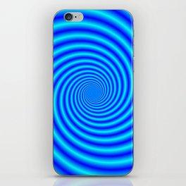 The Swirling Blues iPhone Skin