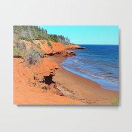 Red Cliffs of PEI Metal Print