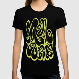 Melbourne typography - lime punch T-shirt