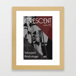 Crescent - bicycles Framed Art Print