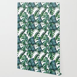 Tropical Palm Leaves Classic Wallpaper