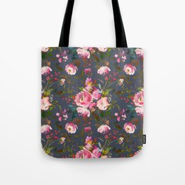Pretty Pink Blossom on Charcoal Tote Bag