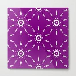 Purple Captain's Wheel Metal Print