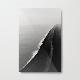 Black Sand Beach, Iceland Metal Print