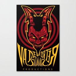 Va de retro satanas logo Canvas Print