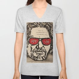 """The Dude Abides"" featuring The Big Lebowski Unisex V-Neck"