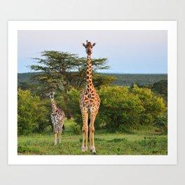 Giraffe Widlife Photography #society6 #home #decor Art Print