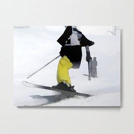 Ski Run Finish Metal Print