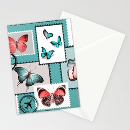 butterfly stamps Stationery Cards