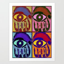 Pop Art Hamsas Art Print