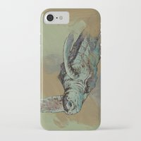sea turtle iPhone & iPod Cases featuring Sea Turtle by Michael Creese