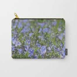 Little Blue Flowers Carry-All Pouch