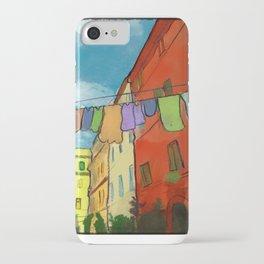 Laundry in Trastevere iPhone Case