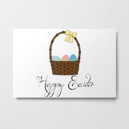 Happy Easter Basket Metal Print