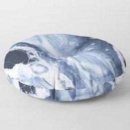 Marble Ice Indigo Floor Pillow
