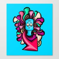 foo fighters Canvas Prints featuring Foo by Shana-Lee