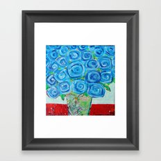 I'm Feeling Blue Framed Art Print