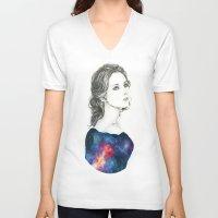 dreamer V-neck T-shirts featuring Dreamer by KristinMillerArt