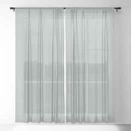 Paloma Grey Pastel Solid Color Block Sheer Curtain