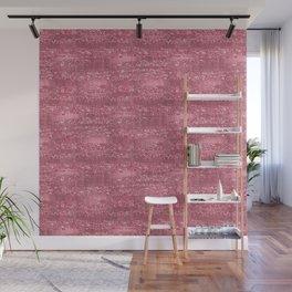 Pink Faux Glitter Foil Stripes Wall Mural