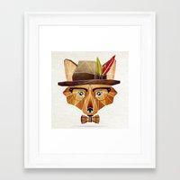 mr fox Framed Art Prints featuring mr. fox by Manoou