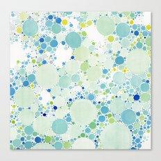 Watercolor Dots Canvas Print