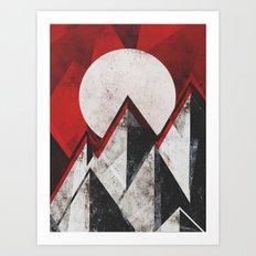 Mount kamikaze Art Print