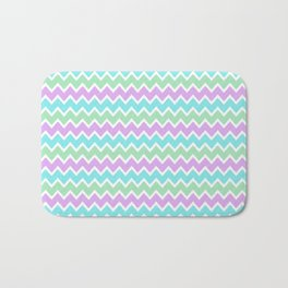 Turquoise Aqua Blue and Light Purple Lavender and Mint Green Bath Mat