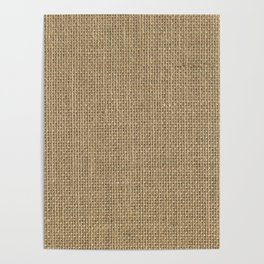 Natural Woven Beige Burlap Sack Cloth Poster