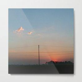 Spring sunset Brasil Metal Print