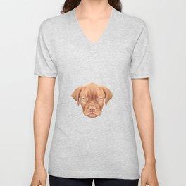Dogue de Bordeaux puppy low poly. Unisex V-Neck