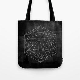 Dark Geometric Design Tote Bag