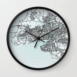 La Rochelle, France, City Map Wall Clock