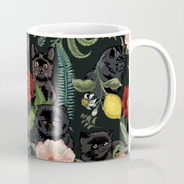 Botanical and Black Cats Coffee Mug