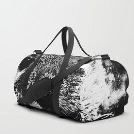 furry fish otter splatter watercolor black white Duffle Bag