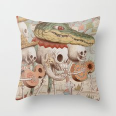 Mexican Skulls 2 Throw Pillow