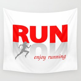 Enjoy running Wall Tapestry