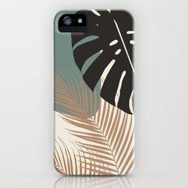Minimal Monstera Palm Finesse #1 #tropical #decor #art #society6 iPhone Case