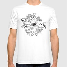 anxious procrastinator Mens Fitted Tee SMALL White