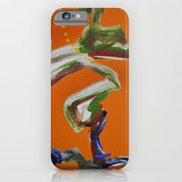 African American Masterpiece 'Paranoia Stroll' abstract landscape painting by E.J. Martin iPhone Case
