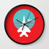 blood Wall Clocks featuring BLOOD by SIX PEAKS