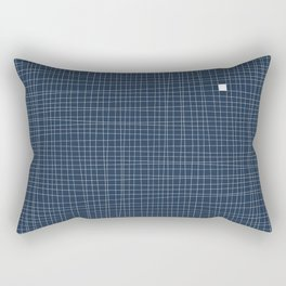 Blue and White Grid - Something's missing Rectangular Pillow