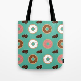 Coffee Beans and Donuts Tote Bag