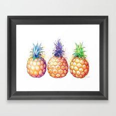 Three Pineapples Framed Art Print